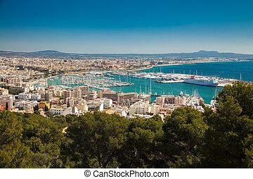 aerial view of of Palma de Mallorca