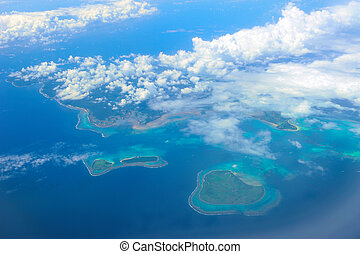 aerial view of Okinawa Islands