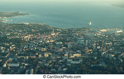 Aerial view of Old Tallinn, Estonia.
