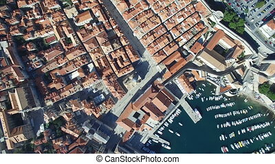 Aerial view of Old Town of Dubrovnik