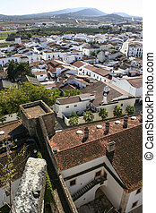 Aerial view of Olivenza Town, Spain