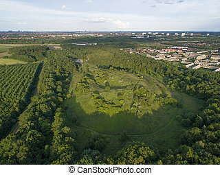 Aerial view of Oxbjerget, Denmark