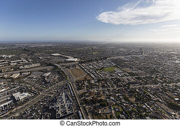 Aerial View of Oxnard and Ventura California