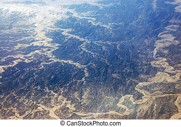 Aerial view of Pakistan geography