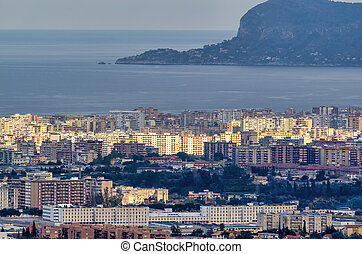 aerial view of palermo a beautiful town in sicily