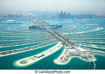 Aerial View Of Palm Island In Dubai