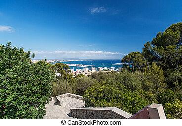 Aerial view of Palma de Mallorca in Majorca