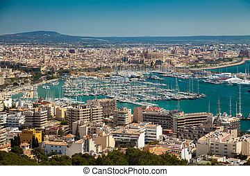 aerial view of Palma de Mallorca
