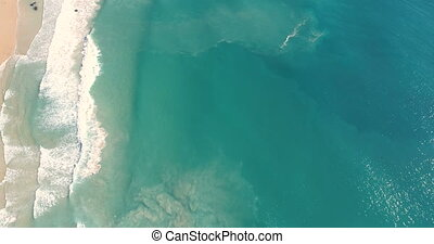Aerial view of paradise beach and turquoise sea - Aerial...