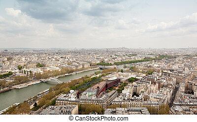 Aerial view of Paris