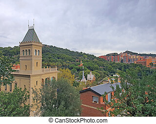 Aerial view of Park Guell
