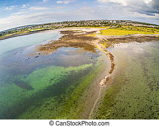 Aerial view of park in Ballyloughane Beach