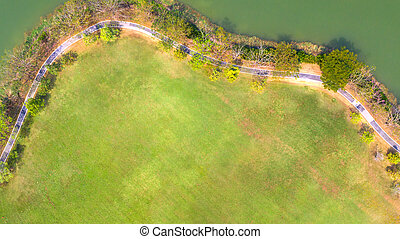 Aerial view of park