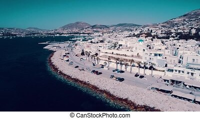 Aerial view of Paros island
