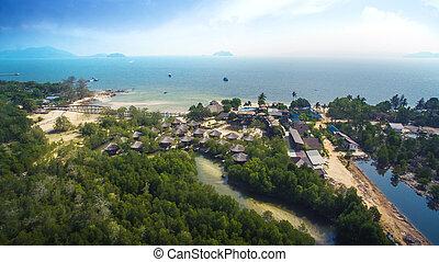aerial view of payam island andaman sea southern of thailand