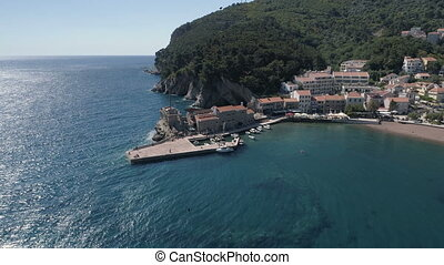 Aerial view of Petrovac city