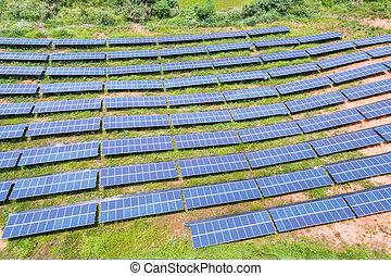 photovoltaic panels on hillside