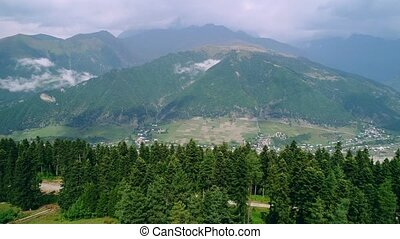 Aerial view of picturesque valley in mountains - Aerial...