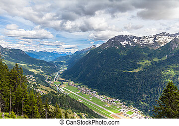 Aerial view of Piora Valley in Ticino - Aerial view of the ...