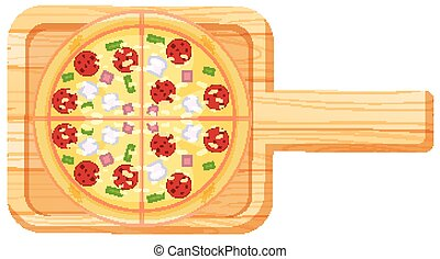 Aerial view of pizza