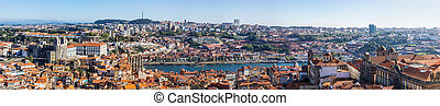 Porto in Portugal - Aerial view of Porto in Portugal in a...