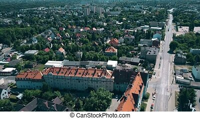 Aerial view of Poznan residential area, Poland - Aerial view...
