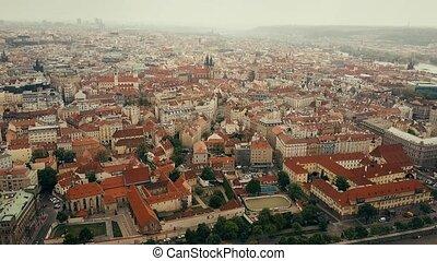 Aerial view of Prague centre, the Czech Republic
