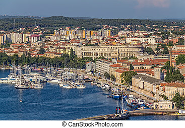 Pula - Aerial view of Pula, Istria, Croatia.