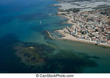 aerial view of Punta Secca