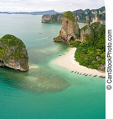 Aerial view of railay beach