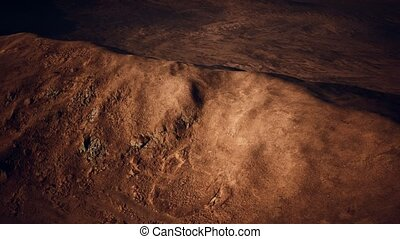 Aerial view of red Desert with sand dune