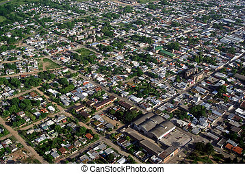 Aerial view of residential area - Bird view of urban aerea...