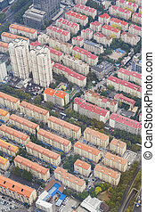 Aerial view of residential area in Shanghai