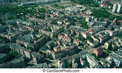 Aerial view of residential area of Poznan, Poland - Aerial...