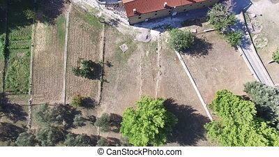 Aerial view of Rezevici Monastery a Serbian Orthodox...