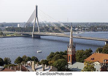 Aerial view of Riga. Latvia