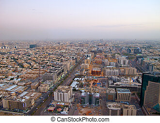 Riyadh - Aerial view of Riyadh city, Saudi Arabia