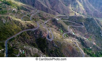 road winding in mountains