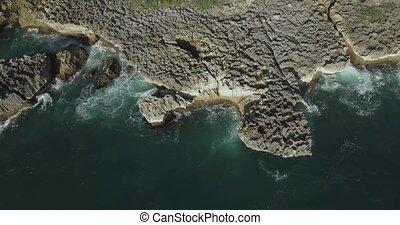 Aerial view of rocky coastline, Nusa Dua, Bali, Indonesia