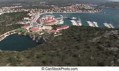 Aerial view of Rogoznica, Croatia