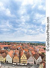 Aerial view of Rothenburg ob der Tauber
