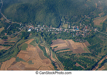 Aerial view of rural