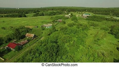 aerial view of Russian country landscape