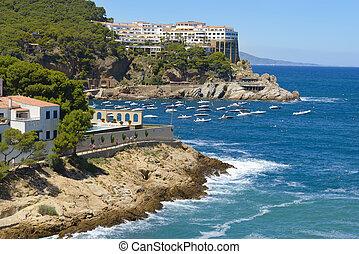 Aerial view of Sa Tuna Beach Resort Spain