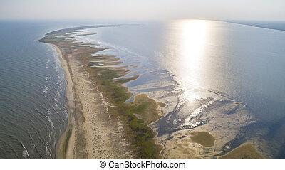 Aerial View of Sacalin Peninsula in Danube Delta