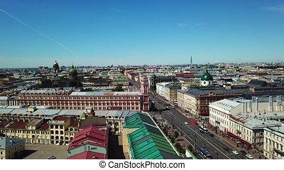 Aerial view of Saint-Petersburg city