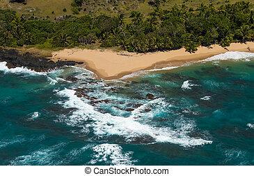 Aerial view of Sainte Marie island, Madagascar