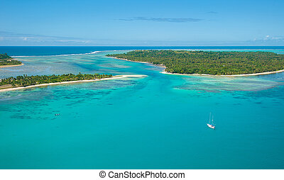 Aerial view of Sainte Marie island, Madagascar