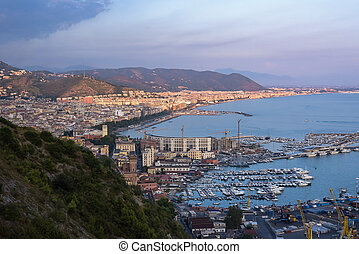 Aerial view of Salerno in Italy