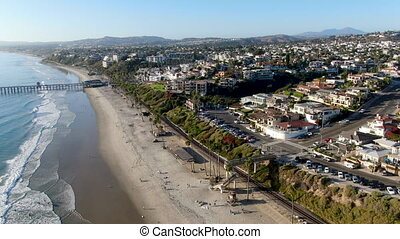 Aerial view of San Clemente coastline, California